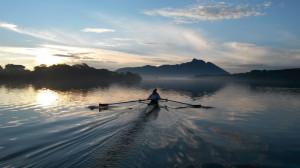 Der Lago di Sabaudia: Nach dem Team Deutschland-Achter wird das Team Frauenachter dort für zwei Wochen sein Trainingslager aufschlagen. Foto: Stefan Weigelt