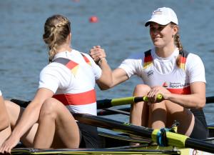 Strahlt Zuversicht aus: Ronja Schütte mit Kerstin Hartmann.