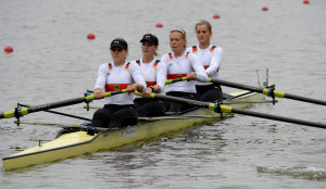 Miriam Davids, Sara Davids, Alexandra Höffgen und Constanze Siering im Vierer