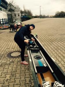 Boote in Dortmund aufriggern